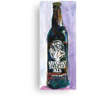 STONE ARROGANT BASTARD Beer Art Print from Original Watercolor - California Beer Art - Bar Room - Cave Beer Canvas Print