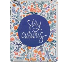 Stay Curious – Navy & Coral iPad Case/Skin