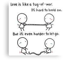 Love is War Metal Print