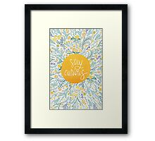 Stay Curious – Yellow & Green Framed Print