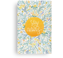 Stay Curious – Yellow & Green Canvas Print