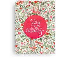 Stay Curious – Pink & Green Canvas Print