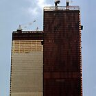 July, 1971 Construction The Twin Towers by John Schneider
