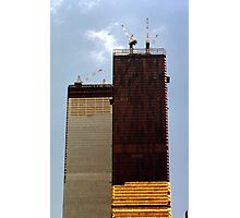 July, 1971 Construction The Twin Towers > Photographic Print