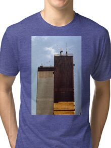 July, 1971 Construction The Twin Towers > Tri-blend T-Shirt