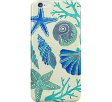 Blue Seashells iPhone Case/Skin