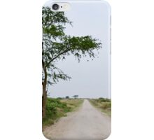 road in the African savanna iPhone Case/Skin