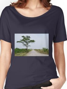 road in the African savanna Women's Relaxed Fit T-Shirt