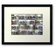 16 Classic British Motorcycles Framed Print