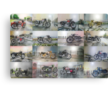 16 Classic British Motorcycles Canvas Print