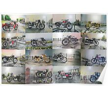 16 Classic British Motorcycles Poster