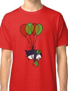 Christmas Balloon Penguin Classic T-Shirt