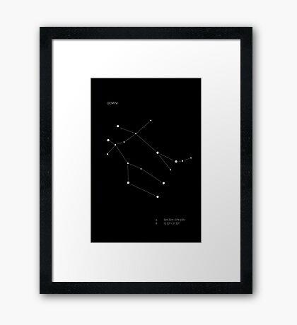 Gemini Constellation Framed Print