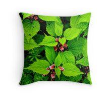 leaf texture Throw Pillow