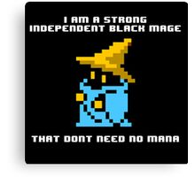 Strong Black Mage Canvas Print