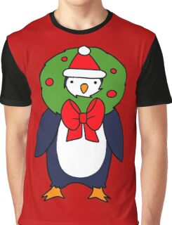 Christmas Reef Penguin Graphic T-Shirt