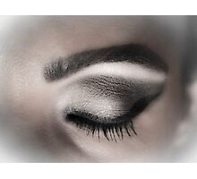 Eye makeup in shades of gray Photographic Print