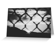 sunset with cloudy sky in black and white Greeting Card