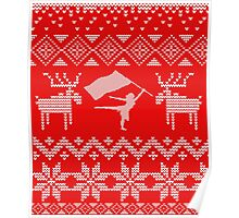 Color Guard Ugly Christmas Sweater Poster