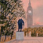 Big Ben and Winston Churchill by bill holkham