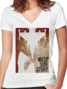 west side story Women's Fitted V-Neck T-Shirt