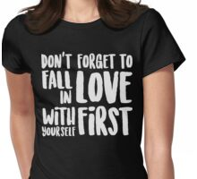 Don't forget to fall in love christmas shirt Womens Fitted T-Shirt