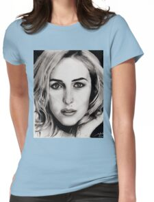 Gillian Anderson Oil Womens Fitted T-Shirt