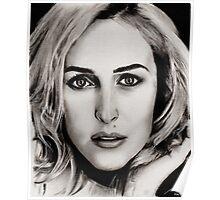 Gillian Anderson Oil Poster