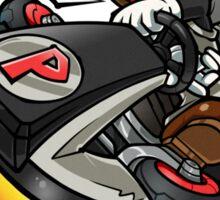 Black Mario races in Mario Kart 8 Sticker