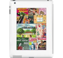 Mid-century Book Cover Collage iPad Case/Skin