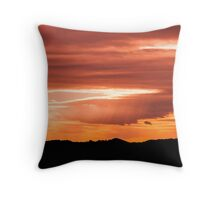 Black in orange Throw Pillow