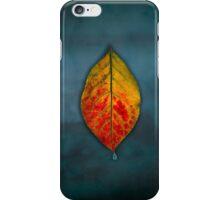 Floating leaf on Blue Sky iPhone Case/Skin