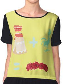 Dress Plus Animal Sidekick Equals Princess- Moana Chiffon Top