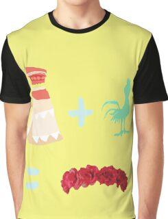 Dress Plus Animal Sidekick Equals Princess- Moana Graphic T-Shirt
