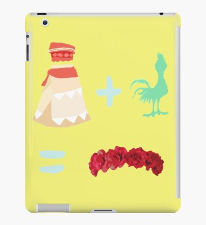 Dress Plus Animal Sidekick Equals Princess- Moana iPad Case/Skin