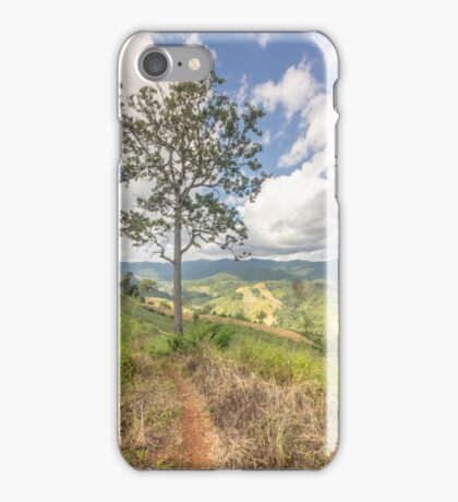 Lonely tree in Chiang Mai iPhone Case/Skin