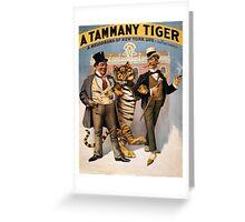 Vintage poster - Tammany tiger Greeting Card