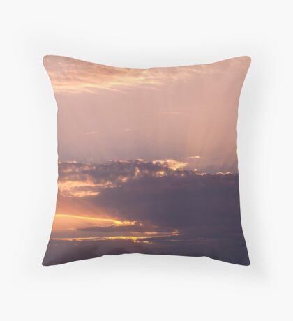 Violet clouds Throw Pillow