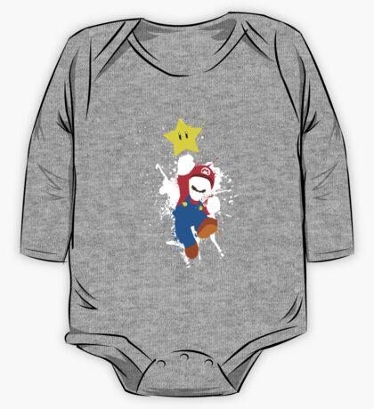 Super Mario Splattery T-Shirt One Piece - Long Sleeve