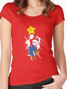 Super Mario Splattery T-Shirt Women's Fitted Scoop T-Shirt