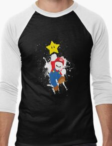 Super Mario Splattery T-Shirt Men's Baseball ¾ T-Shirt