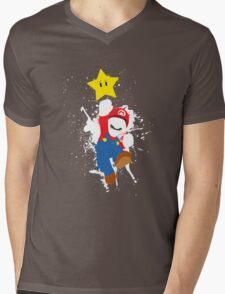 Super Mario Splattery T-Shirt Mens V-Neck T-Shirt