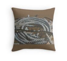 old rope in Devon Throw Pillow