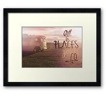 Oh the Places You'll Go orange Framed Print