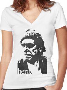 Hero - Charles Bukowski Women's Fitted V-Neck T-Shirt