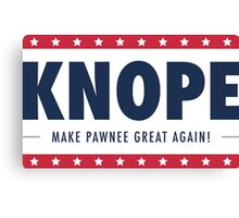 Knope for President Canvas Print