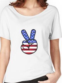 American peace sign Women's Relaxed Fit T-Shirt
