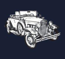 1931 Ford Model A Cabriolet Illustration Kids Clothes