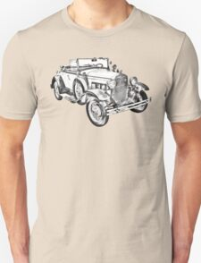 1931 Ford Model A Cabriolet Illustration Unisex T-Shirt