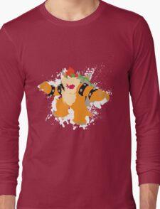 Bowser splattery vector T Long Sleeve T-Shirt